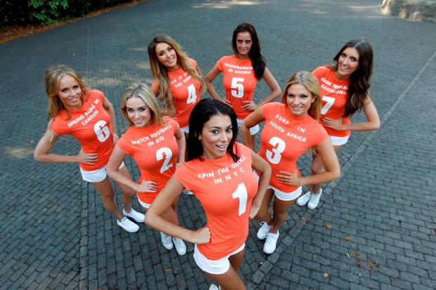 Pictured at the launch of Meteor's 7 Deadly Things campaign and Meteor's great student offers are (from 1 to 7) Georgia Salpa (1), Louise Johnston (2), Sarah Kavanagh (3), Roz Purcell (4), Jade Lynch (5) Kate Mc Daid (6) and Hannah Dervanne (7).