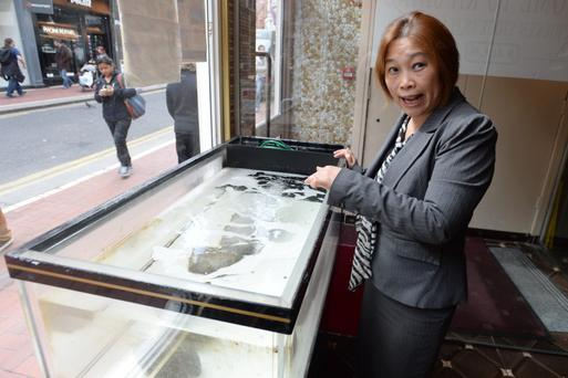 Bi Lian Liu Manager of KA SHING restaurant where 9 Lobsters were taken from the tank by activists. Photo: Justin Farrelly.