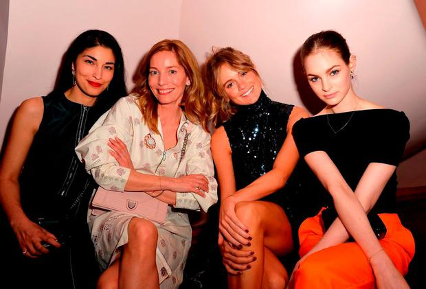 (L-R) Caroline Issa, Lucie de la Falaise, Cressida Bonas and Laura Love attends the Dior Croisiere 2016 at Palais Bulle on May 11, 2015 in Theoule sur Mer, France. (Photo by Pascal Le Segretain/Getty Images for Dior)