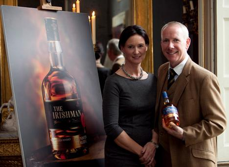 Rosemary and Bernard Walsh, founders of Walsh Whiskey Distillery