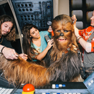 Tuesday 12th May, 2015: Madame Tussauds' artists and stylists put the finishing touches onto Chewbacca. Photo: Mikael Buck / Madame Tussauds