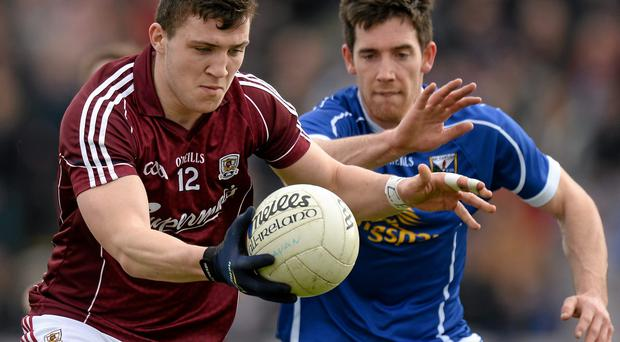 Meehan: 'The last two U-21 winning teams that have come through, a lot of those lads – players like Damien Comer (pictured) – are involved and they are between the ages of 22 and 24'