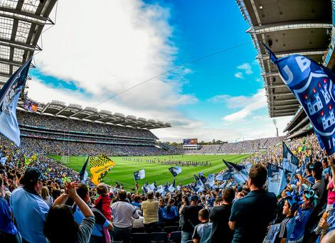 Dublin fans salute their team before another big clash at Croke Park