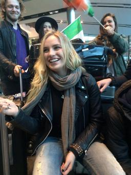 Molly Sterling and band flying out to Vienna for first Eurovision rehearsals.