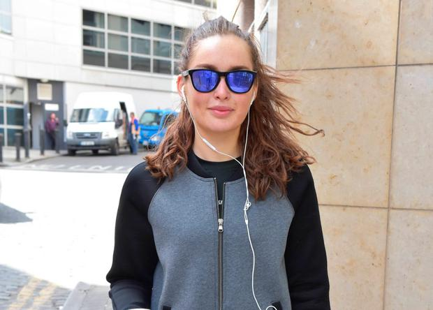 Rozanna Purcell spotted at Today FM studios