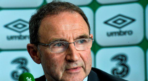 Republic of Ireland manager Martin O'Neill speaking at a squad announcement