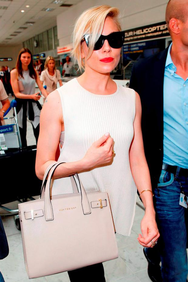 Sienna Miller sighted on May 12, 2015 in Nice, France. (Photo by Alex Huckle/Getty Images)