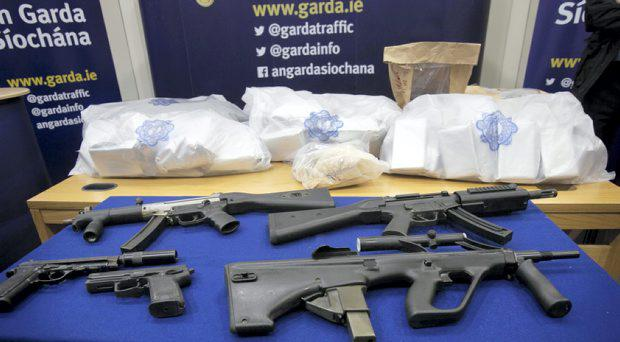 Gardai in Clondalkin recovered €5.5m worth of drugs and a cache of weapons earlier this year