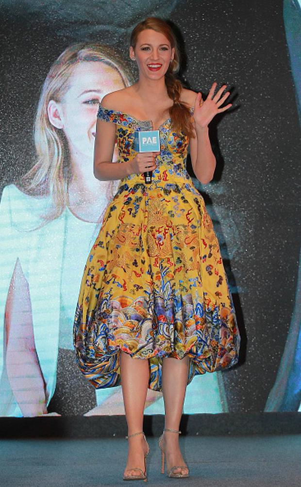 Actress Blake Lively attends press conference of movie