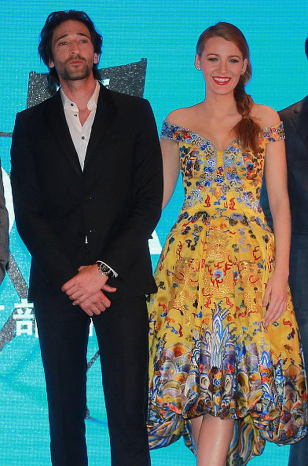 Actor Adrien Brody and actress Blake Lively attend press conference of movie