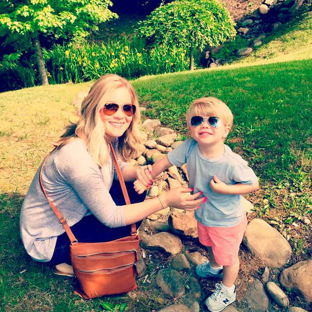 Tawny Willoughby with her young son Pic: Facebook