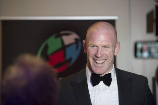 Paul O'Connell at the Hibernia College IRUPA Rugby Players Awards 2015 at the Doubletree Hilton, Dublin tonight