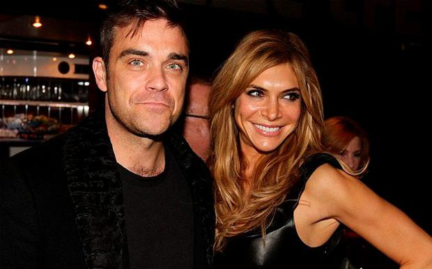 Robbie Williams and his wife Ayda Fiel