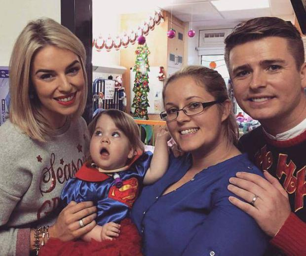 Katie Flynn and mum Lisa with Pippa O'Connor and Briand Ormond