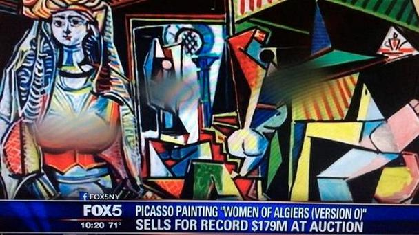 Fox blurred out the nipples on Picasso's Women of Algiers