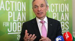 Jobs Minister Richard Bruton has warned that any decision to hike the minimum wage, must not 'hamper the growth of employment'
