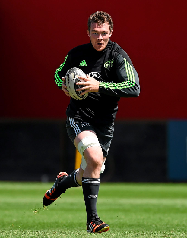 Peter O'Mahony in action at training
