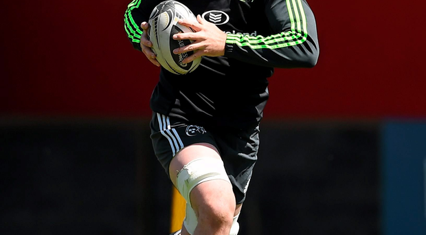 Peter O'Mahony in action at trainingspoken