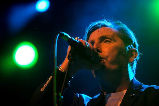 Christy Dignam and Aslan playing at a gig in aid of Shave or Dye in memory of Tony Fenton at Vicar Street, Dublin. Picture: Arthur Carron