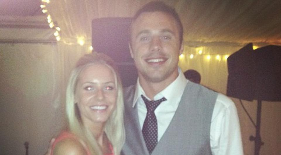 Tommy Bowe and fiancee Lucy Whitehouse. Picture: Instagram