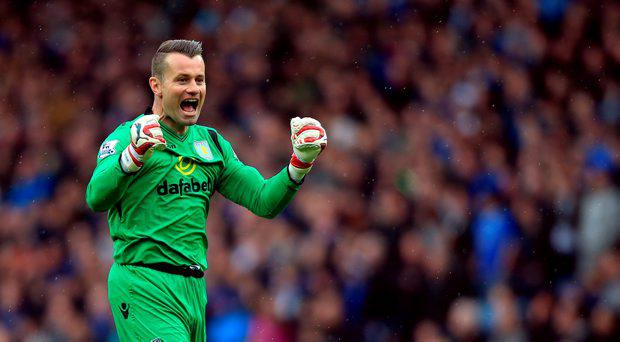 Aston Villa goalkeeper Shay Given