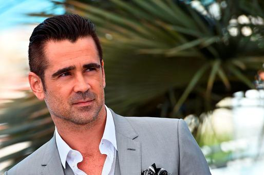 Irish actor Colin Farrell poses during a photocall for the film