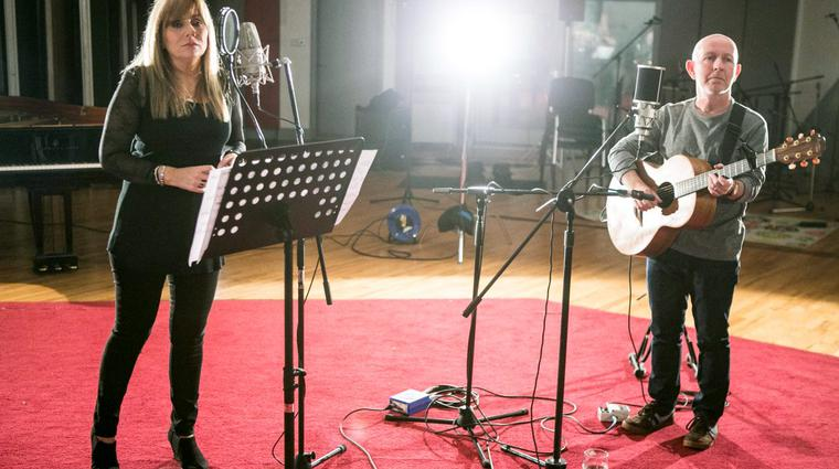 Frances Black and Kieran Goss during the Windmill Lane Sessions