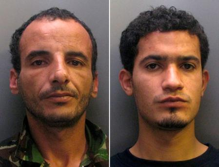Libyan soldiers stationed in Britain, Moktar Ali Saad Mahmoud (L) and Ibrahim Abugtila Credit: AFP/Getty Images