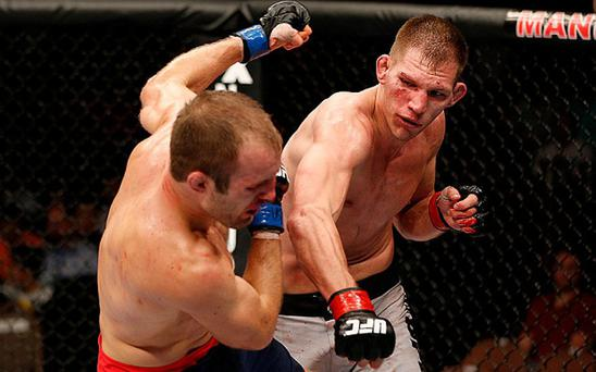 Luke Barnatt (right) in action