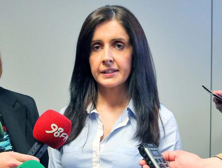 Sergeant Maeve O'Sullivan, of the Child Protection Unit, speaks to the media