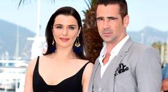Rachel Weisz and Colin Farrell at the Cannes Film Festival promote their movie 'The Lobster'. Shot in Dublin, Sneem and Kenmare, the Irish coproduction is a sci-fi romance which has taken film critics and festival veterans by surprise. Some are even tipping it to steal the Palme d'Or, the event's top prize, next weekend