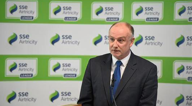 Fran Gavin, Director of the National League, during the launch of the SSE Airtricity League (Pat Murphy / SPORTSFILE)