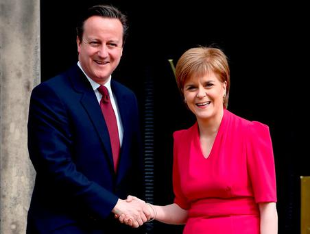 British Prime Minister David Cameron and SNP leader Nicola Sturgeon. Phot: Getty Images