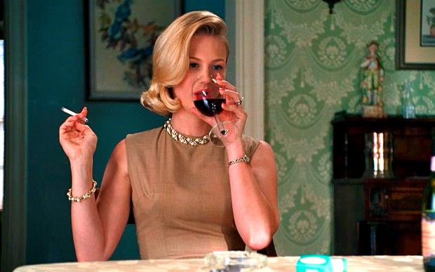 January Jones as Betty Draper in AMC's Mad Men