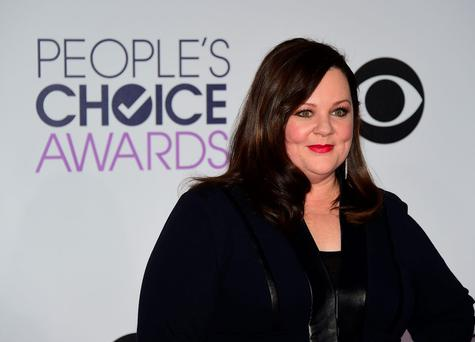 Actress Melissa McCarthy arrives on the red carpet for The 41st Annual People's Choice Awards