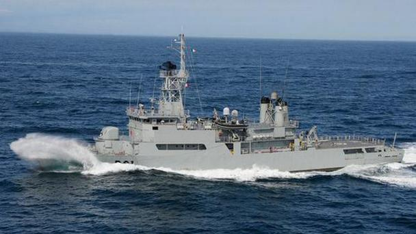 LE Eithne, Ireland's largest navy vessel