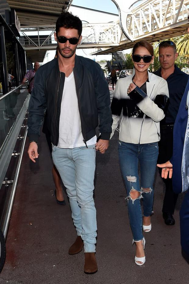 Jean-Bernard Fernandez-Versini and Cheryl Fernandez-Versini are seen at Nice Airport during the 68th annual Cannes Film Festival on May 16, 2015 in Cannes, France. (Photo by Jacopo Raule/GC Images,)
