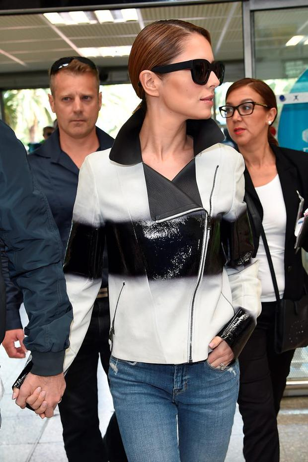 Cheryl Fernandez-Versini is seen at Nice Airport during the 68th annual Cannes Film Festival on May 16, 2015 in Cannes, France. (Photo by Jacopo Raule/GC Images,)