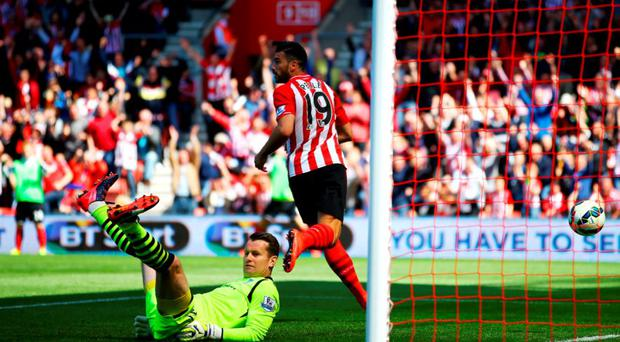 Shay Given reacts after Graziano Pelle scores Southampton's sixth goal