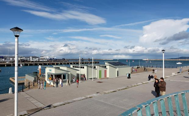Artist Impressions of the urban beach in Dun Laoghaire Credit: Dun Laoghaire Harbour Company