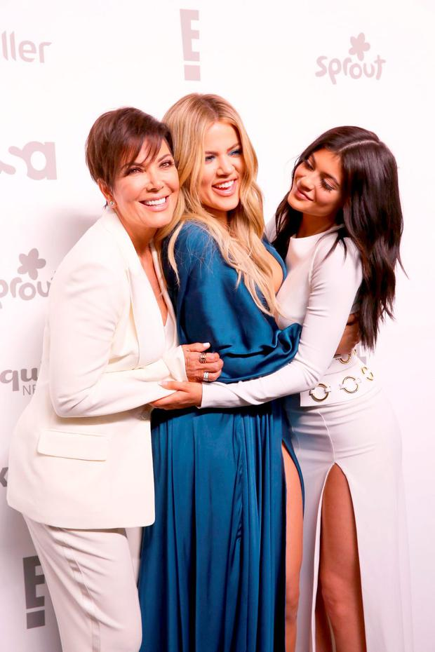 (L to R) Kris Jenner, Khloe Kardashian, and Kylie Jenner attend the 2015 NBCUniversal Cable Entertainment Upfront at The Jacob K. Javits Convention Center on May 14, 2015 in New York City. (Photo by Robin Marchant/Getty Images)