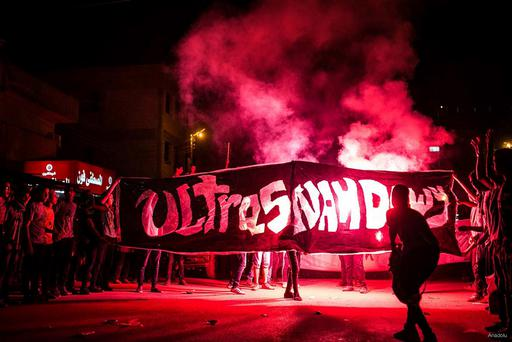 The Ultras, as well as other soccer fans, were among the thousands that protested against Hosni Mubarak's autocratic rule Credit: Ultras Nahdawi
