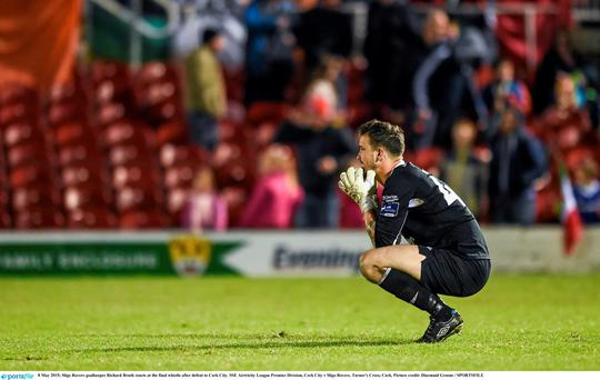 Sligo Rovers goalkeeper Richard Brush. Photo: Diarmuid Greene / SPORTSFILE