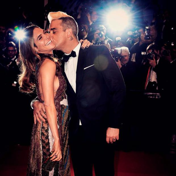 Robbie Williams and Ayda Field attend