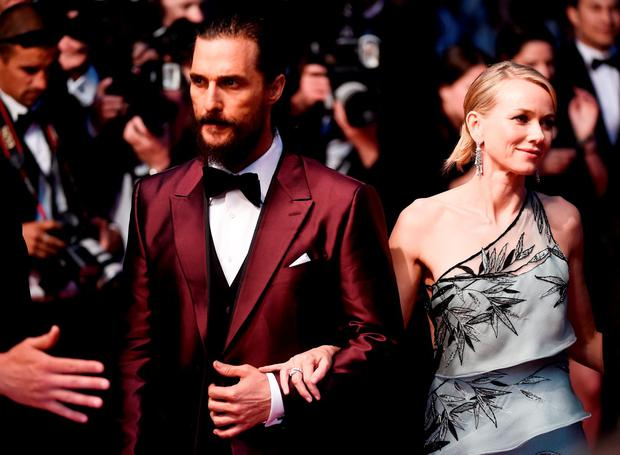 Matthew McConaughey and Naomi Watts attend the Premiere of