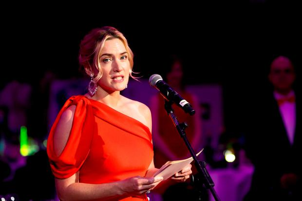 Kate Winslet hosts a fundraising dinner for Cardboard Citizens raising money for their new season of theatre working with homeless people at The Brewery on May 16, 2015 in London, England. (Photo by David M. Benett/Getty Images for Cardboard Citizens)