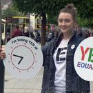 Actress Saoirse Ronan is backing a yes vote. Photo: Jason Kennedy