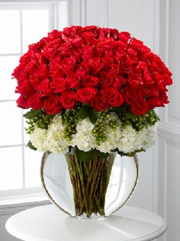 Ursula Halligan received this bouquet of flowers, thanks to contributions made by Twitter users.