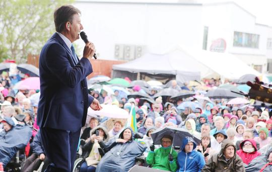 Daniel O'Donnell performing at the concert in Dungloe. (North West Newspix)