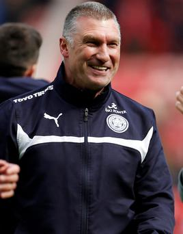 Leicester manager Nigel Pearson saw his side secure their place in the Premier League